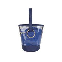 DABAGIRL - Inset Pouch Transparent PVC Bucket Bag