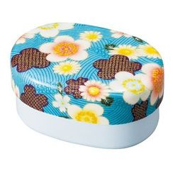 Hakoya - Hakoya Nunobari Oval Lunch Box Kaga Sakura (Blue)