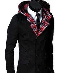 Alvicio - Long Sleeve Double-Breasted Trench Coat