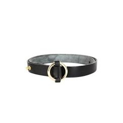 DABAGIRL - Hoop-Buckle Genuine-Leather Belt