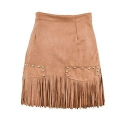 Moriville - A-line Fringe Skirt