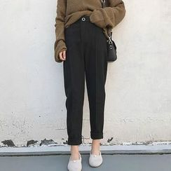 CosmoCorner - Straight-Leg Elastic-Waist Harem Pants