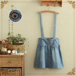 Angel Love - Suspender Denim Skirt