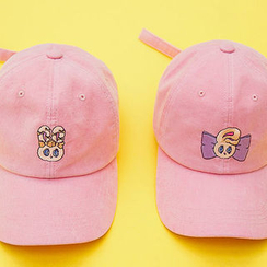 chuu - Bunny-Embroidered Corduroy Baseball Cap
