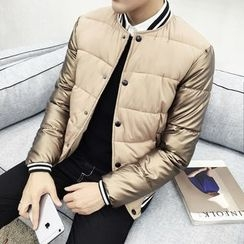 Bay Go Mall - Plain Down Baseball Jacket