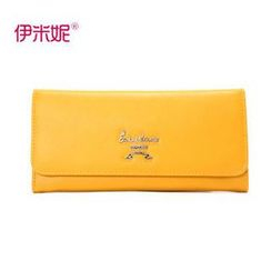 Emini House - Genuine-Leather Flap Long Wallet