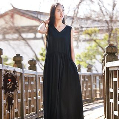 EMBRO - 抽褶背心裙