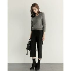 UPTOWNHOLIC - Band-Waist Dress Pants
