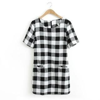 JVL - Plaid Shift Dress