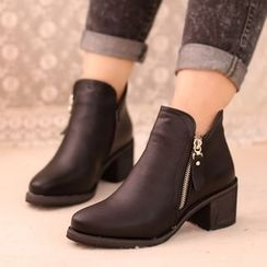 IYATO - Genuine-Leather Ankle Boots