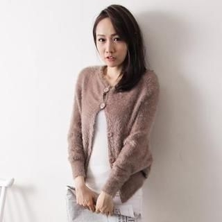 D.P-Shop - Furry Knit Jacket