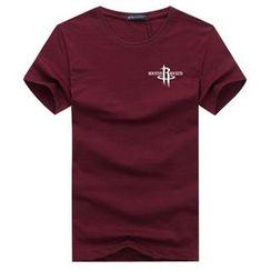 Champking - Short-Sleeve Lettering T-Shirt