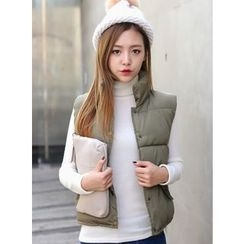 BBAEBBAE - Stand-Collar Snap-Button Padded Vest