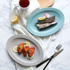 川岛屋 - 陶瓷椭圆形餐盘