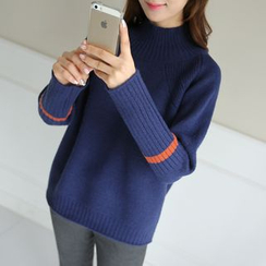 CLICK - Mock-Neck Raglan-Sleeve Sweater