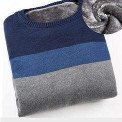 Izme - Fleece-Lined Color Block Sweater
