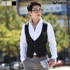 DANGOON - Tab-Back Single-Breasted Dress Vest