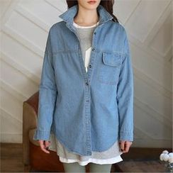 CHICFOX - Long-Sleeve Denim Shirt