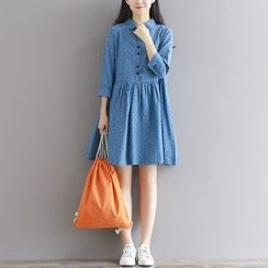 Emeline - 长袖A字连衣裙