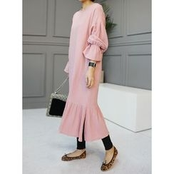 STYLEBYYAM - Ruffle-Hem Long Dress