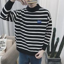 JUN.LEE - Stripe Knit Top