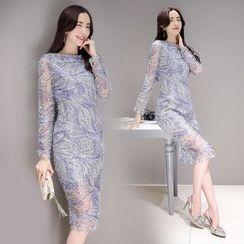 Lovi - Sequin Midi Sheath Dress