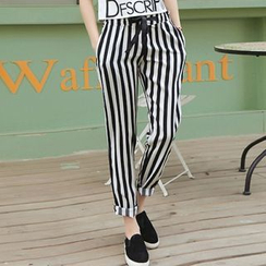 Cobogarden - Pinstriped Harem Pants