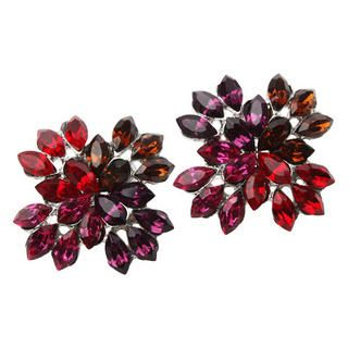 Colored Crystal Petal Earrings