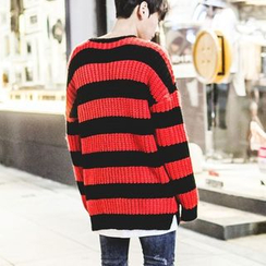 TOMONARI - Drop-Shoulder Stripe Sweater