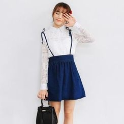 Porta - Denim Suspender Skirt