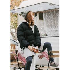 GOROKE - Detachable-Hood Zip-Up Puffer Jacket