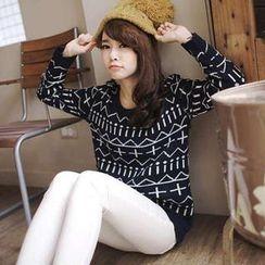 Tokyo Fashion - Cross-Print Sweater