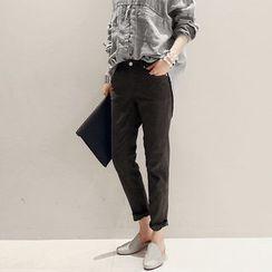 NANING9 - Linen Blend Pants
