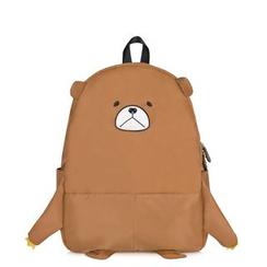 SUPER LOVER - Bear-Accent Nylon Backpack