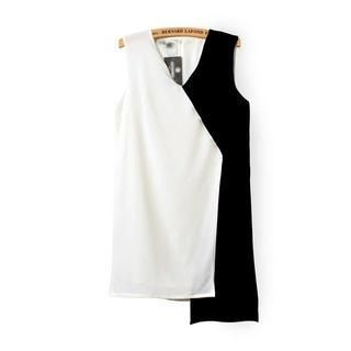 LULUS - Asymmetric-Hem Two-Tone Sleeveless Dress