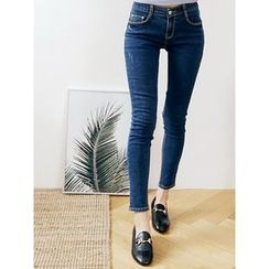 LOLOten - Band-Waist Skinny Jeans