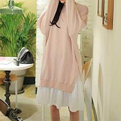 Champi - Mock Two Piece Pullover Dress