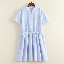 ninna nanna - Short-Sleeve Tie Waist Dress