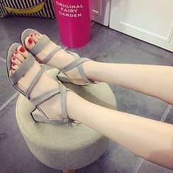Wello - Block Heel Strapped Sandals