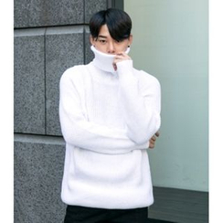 ABOKI - Turtle-Neck Raglan-Sleeve Sweater