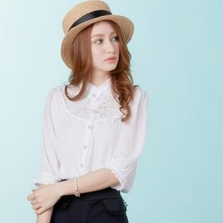 Tokyo Fashion - Lace-Yoke Beaded Blouse