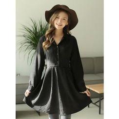 BBAEBBAE - V-Neck Buttoned Dress