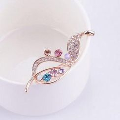 Best Jewellery - Rhinestone Leaf Brooch