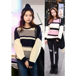 DEEPNY - Raglan-Shoulder Color-Block Sweater