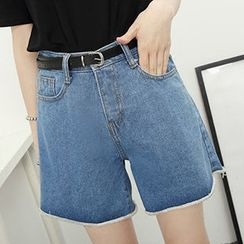 Honey House - Washed Denim Shorts