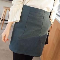 mimi&didi - Pocket-Side A-Line Mini Skirt
