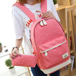 MooMoo Bags - Dotted Canvas Backpack