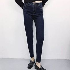 Dute - 高腰窄身牛仔裤