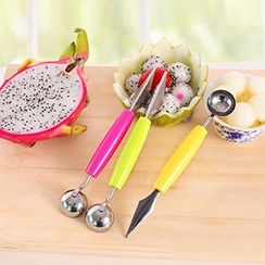 Cute Essentials - Double Ended Fruit Scoop with Carving Knife