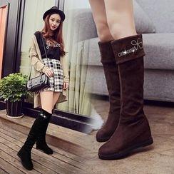 YIVIS - Hidden Wedge Over-the-knee Boots